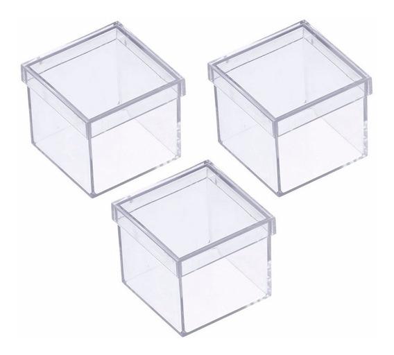 Caixinha Em Acrilico 4x4 (10 Unidades ) Lembrancinhas