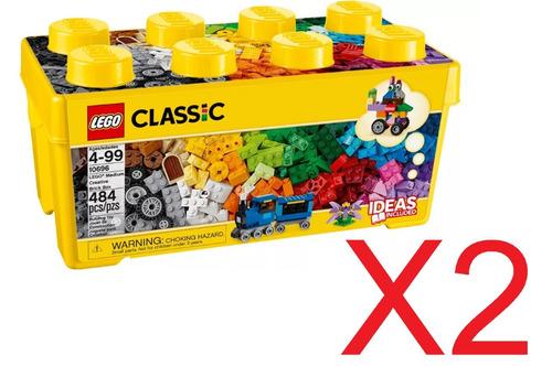 Lego Classic 10696 - Caixa Média De Peças Lego - 2 Unidades