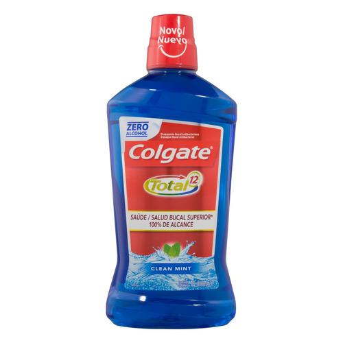 Enxaguatório bucal Colgate Total 12 clean mint 1 L