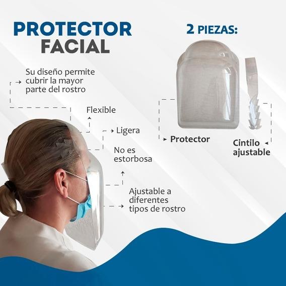 Protector Facial En Pet, Re-utilizable (50 Piezas)