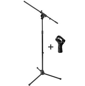 Pedestal Suporte M100 Microfone Mellody + Brindes - Kadu Som