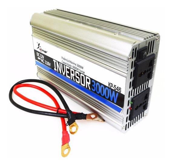 Inversor Tensão 12v 110v 3000w Transformador Kp546 Conversor