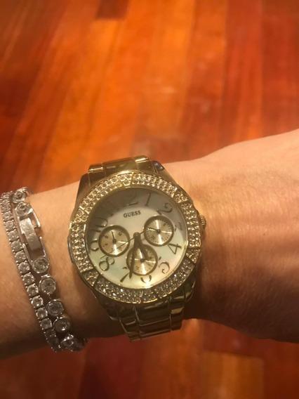 Relógio Dourado Guess, Excelente Estado , Pouco Uso