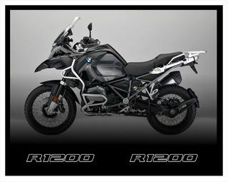 Par Emblema Adesivo Paralama Bmw R1200 Gs Triple Black