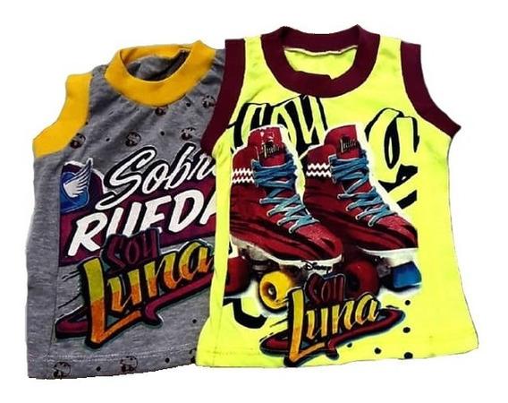 Franela Camiseta Blusa Niña Soy Luna Promoción (pack 7 Pzs)