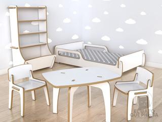 Combo Bebé: Cama Montessori + Juguetero + Mesita + 2 Sillas