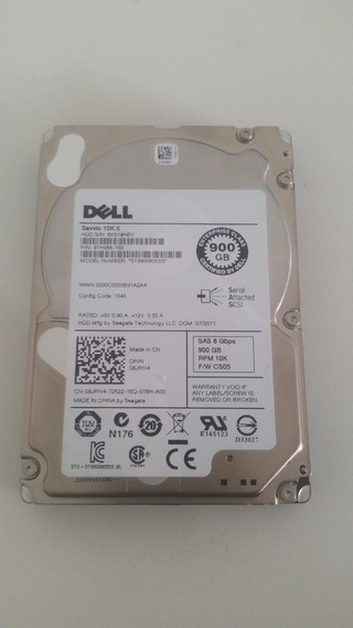 08jrn4 Dell 900gb 6g 10k 2.5 Sas St9900805ss 9th066-150 Cs05