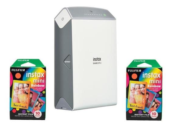 Impressora Fujifilm Instax Share Sp2 Prata + 20 Filmes