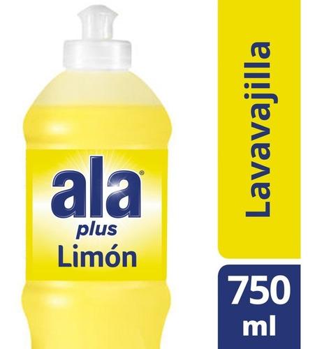 Ala Plus Lavavajilla Antigrasa Cristalino Limón 750ml