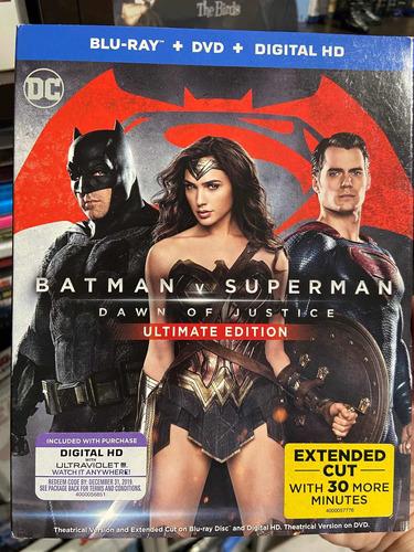 Blu-ray + Dvd Batman V Superman Dawn Of Justice Extendida