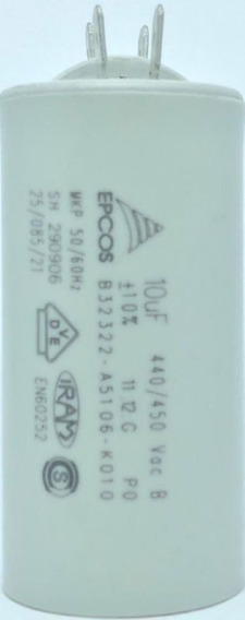Capacitor 10uf 440/450v B32322-a5106-k010 35x71mm Epcos