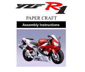 (maquete) Yzf-r1 Color Vers Papercraft Cortar Colar E Montar