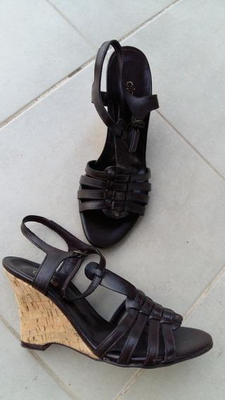 Zapatos Mujer Sandalias C Plataforma Clona 38 Marron