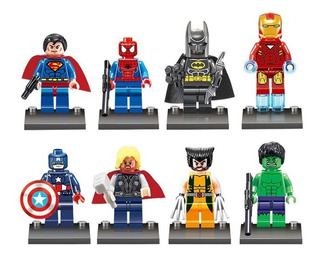 Avengers Muñecos Figuras X 8 Compatible Lego Super Heroes