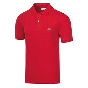 Playera Polo Vestir Lacoste Hombre Logo Pol Rojo Dtt 54786