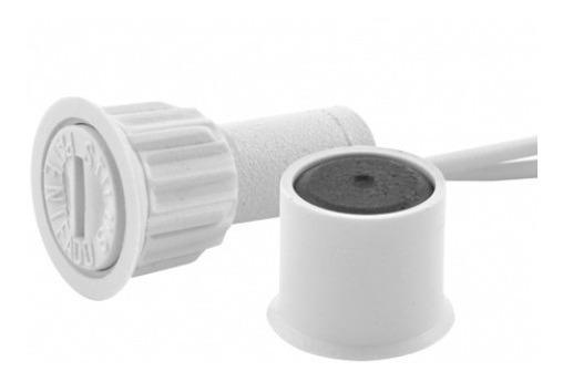 Sensor Magnetico Embutir 5 Peças C/ Bucha Branco Stilus
