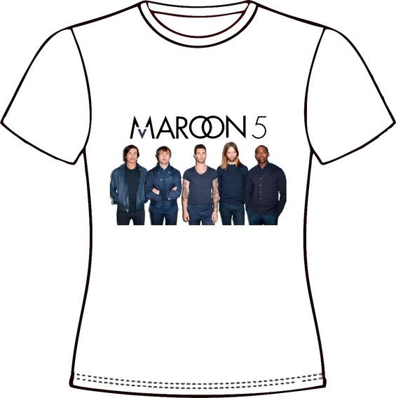 Camiseta, Baby Look Ou Almofada Maroon5