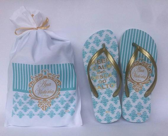 36 Sandalias Personalizados + 36 Embalagens Personalizadas
