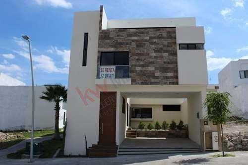 Casa En Renta En Privada Exclusiva Lomas Del Pedregal A Estrenar En Una De Las Mayores Zonas De Crecimiento En San Luis.