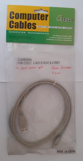 Cable Para Camaras Usb A Mate/ Mini B Femate 4 Pines 6 Feet