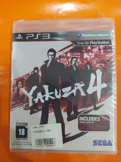 Jogo Ps3 Yakuza 4 Original Lacrado Playtation 3