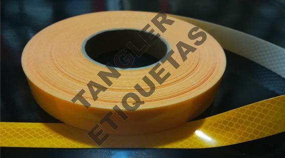 Cinta Reflectiva 3m Blanca O Amarilla Ancho 2,5cm