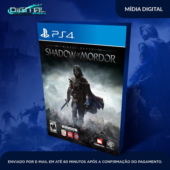 Sombras De Mordor Ps4 Jogo Digital Dublado Pt Br Envio Hj