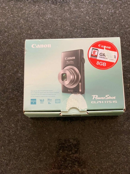 Câmera Cânon Power Shot Elph1151s 16mp 8x Zoom Nova Na Caixa
