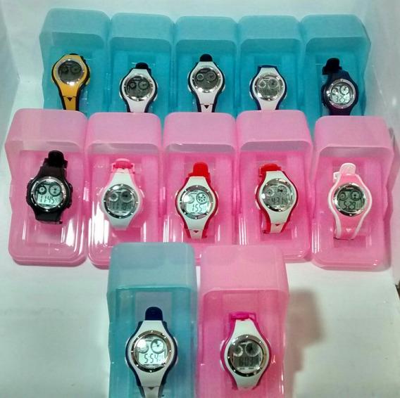 Relógio Feminino Digital Academia C/ Led Alarme Kit C/ 12 Relógios Para Revenda Varias Cores Com Caixinha