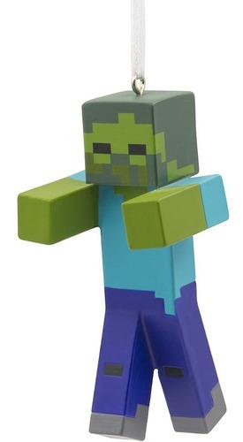 Imagen 1 de 5 de Adorno Árbol De Navidad Original Hallmark Minecraft Zombie