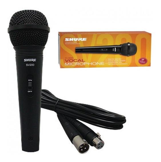 Microfone Shure Sv200 Original Melhor Preço C/ Garantia