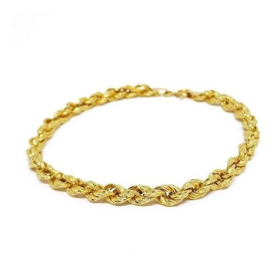 Pulseira Cordão Baiano Masculina Ouro 18k