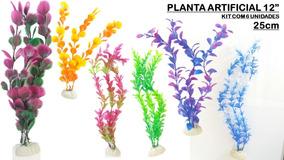 Plantas Artificiais Aquários- Kit 6 Un. 25cm - Lindas (12 )