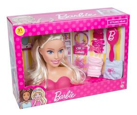 Boneca Barbie Busto Para Pentear Original - Pupee Brinquedos