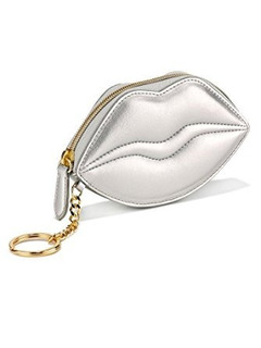 Victorias Secret Lip Pouch Con Cierre Silver