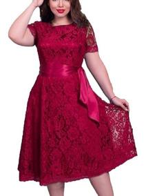 Renda Evangélica Vestido Plus Size Casamento Batizado V26