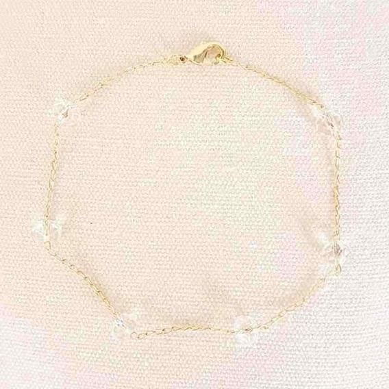 Pulseira Cristal Resina Folheada
