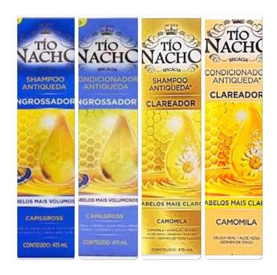 Tio Nacho Clareador + Engrossador 1 Sh+ 1 Cond De Cada