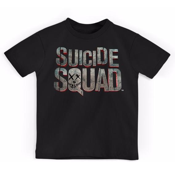Camiseta Infantil Suicide Squad Logo Oficial