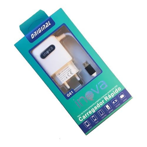 Carregador Rapido Bateria G61 2.1 Usb Para Gopro Hero Silver