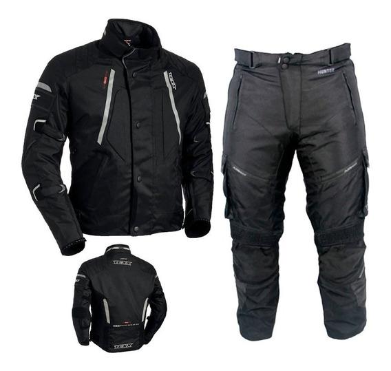 Conjunto Texx Impermeavel Moto Jaqueta Air Bag Calça Force