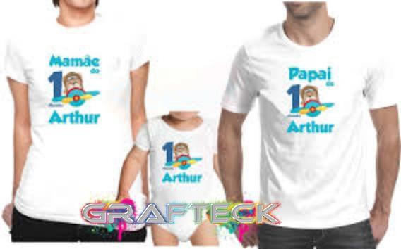 Kit 2 Camisetas E 1 Body Personalizados
