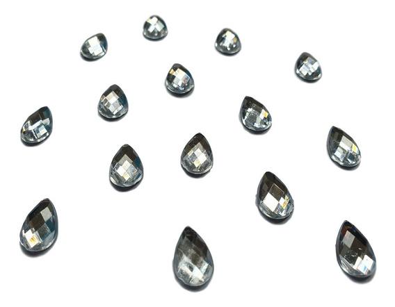 Gema Cristal Gota 8x13mm Hotfix Piedra 100u Strass Termoadhesivo!