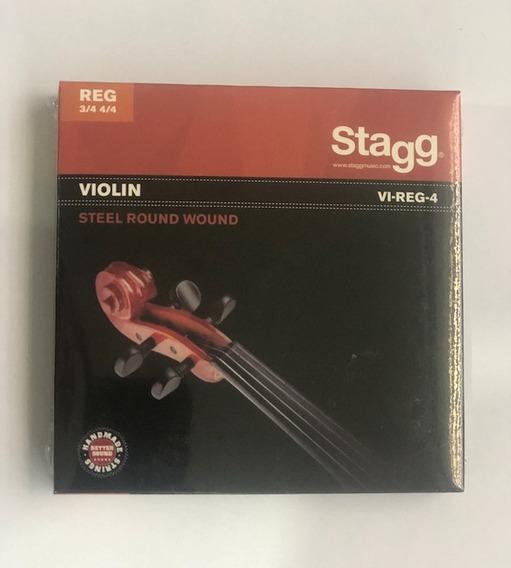 Cuerdas Para Violin Stagg 3/4 Y 4/4 Vi Reg 4