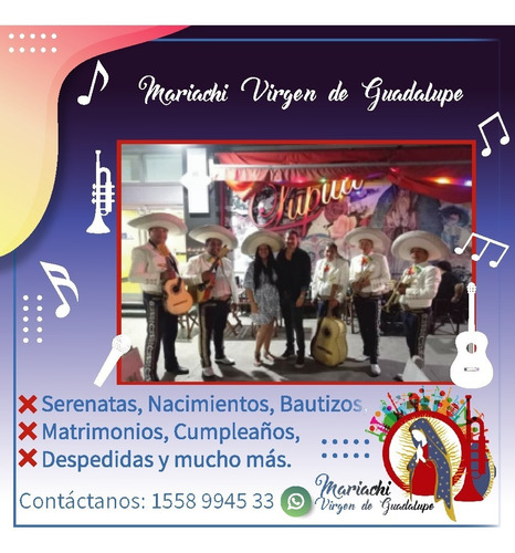 Imagen 1 de 5 de Mariachis,serenatas,mariachis A Domicilio Zona Sur