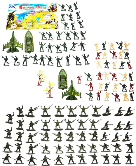 120 Boneco Soldado Plastico Guerra Exercito Militar Miniatur