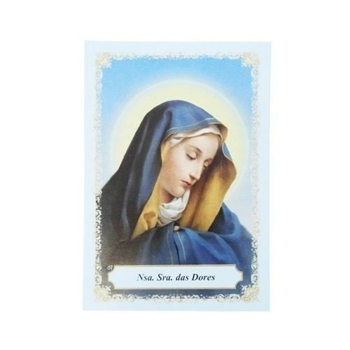 100 Folhetos Santinho Oração Nossa Senhora Das Dores