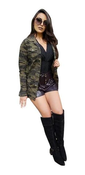 Jaqueta Max Camuflada Blusa Feminina Roupa Da Moda