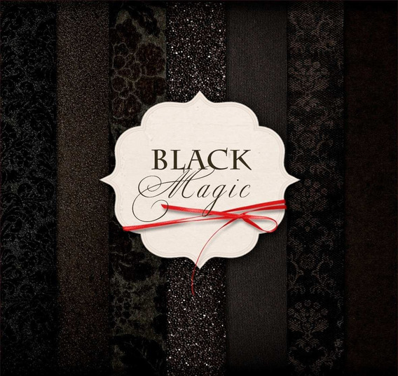 Kit Vectores Papel Digital Halloween Black Magic