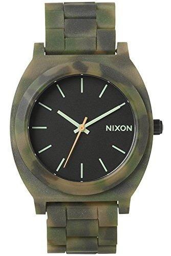 Reloj Nixon Time Teller Acetato Camuflaje Verde A3271428-00